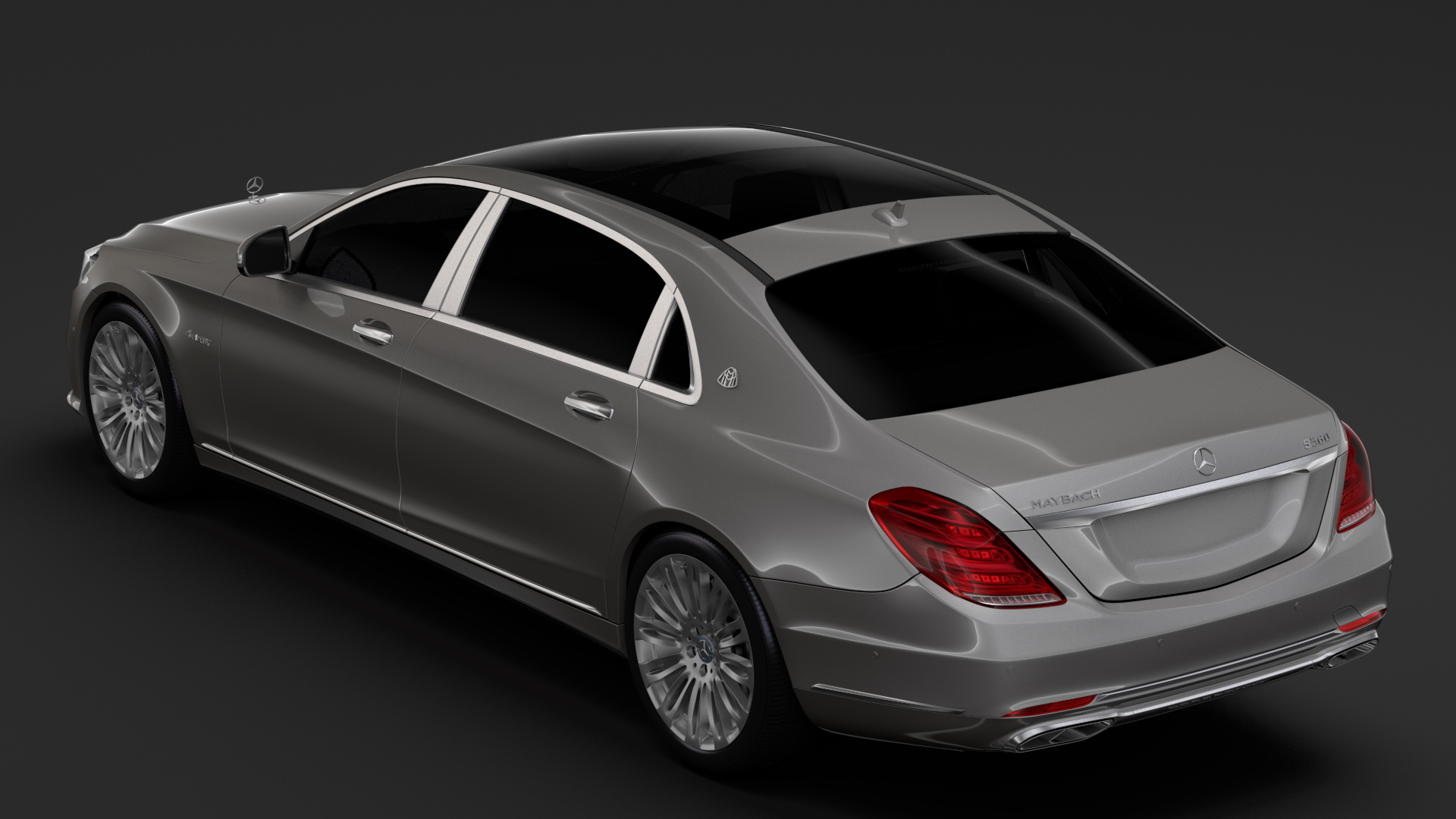 mercedes maybach s 560 4matic x222 2018 3d model 3ds max fbx c4d lwo ma mb hrc xsi obj 284434