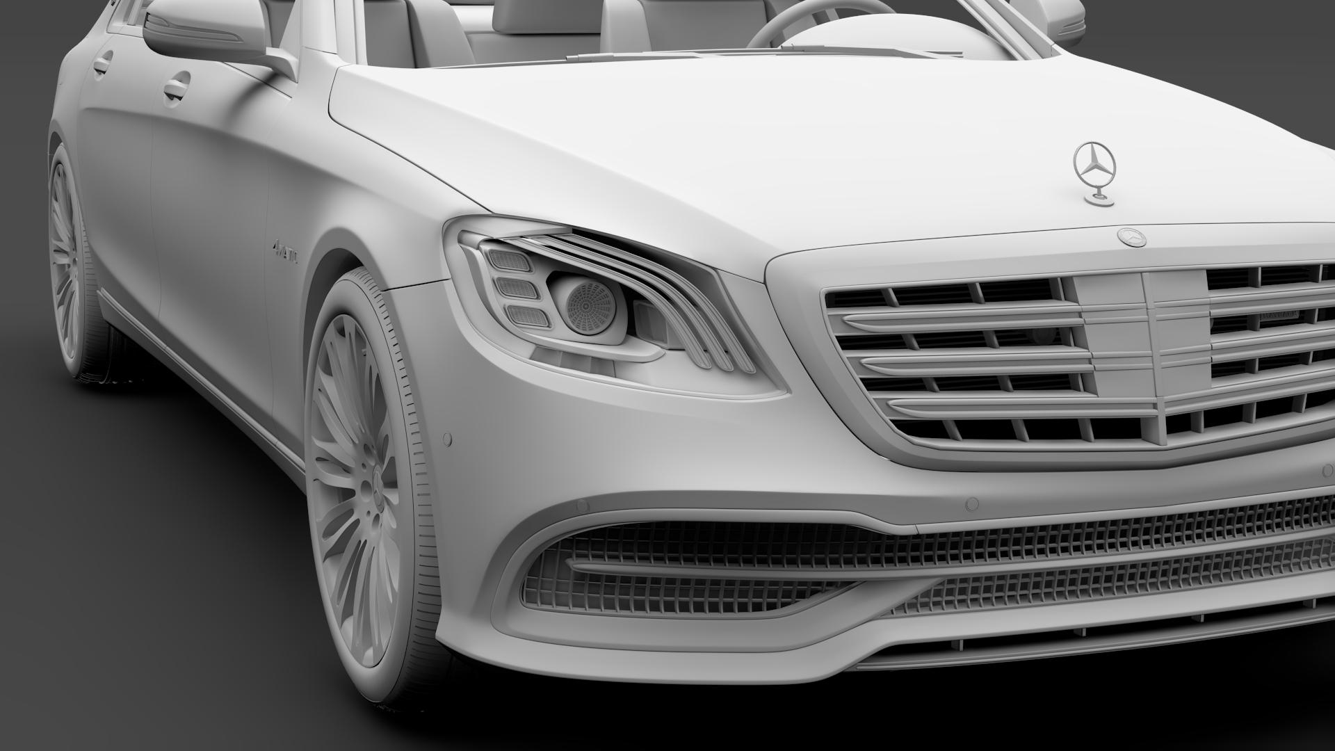 mercedes maybach s 560 4matic x222 2018 3d model 3ds max fbx c4d lwo ma mb hrc xsi obj 284440