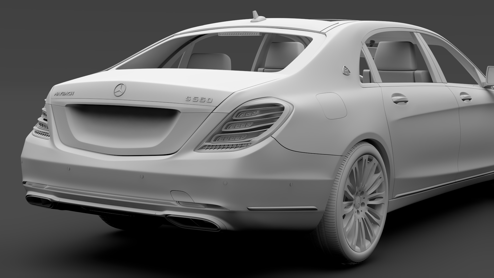 mercedes maybach s 560 4matic x222 2018 3d model 3ds max fbx c4d lwo ma mb hrc xsi obj 284443