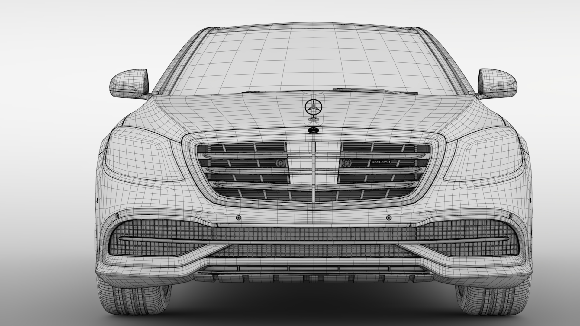 mercedes maybach s 560 4matic x222 2018 3d model 3ds max fbx c4d lwo ma mb hrc xsi obj 284444