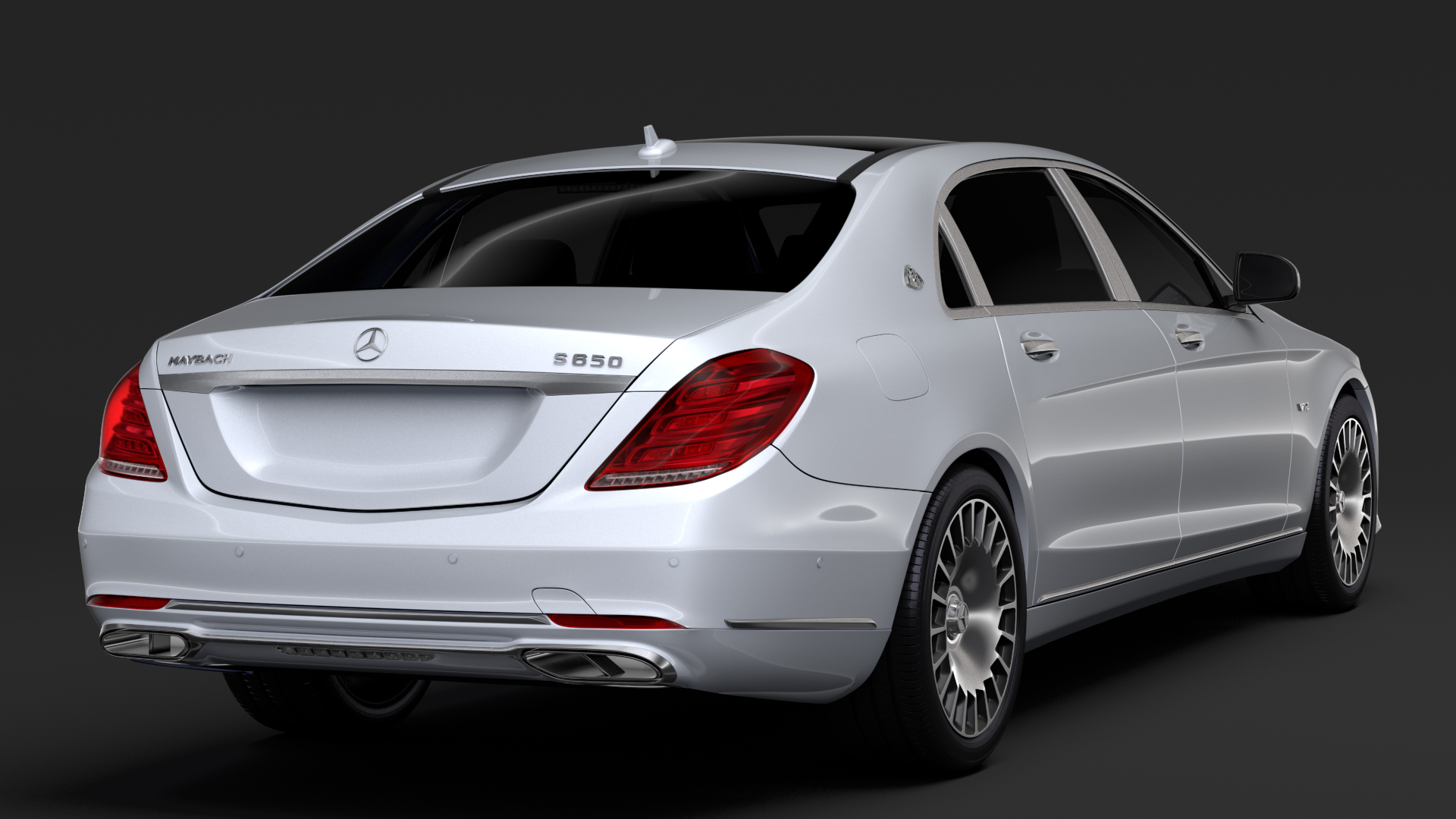 mercedes maybach s 650 x222 2018 3d model 3ds max fbx c4d lwo ma mb hrc xsi obj 284537