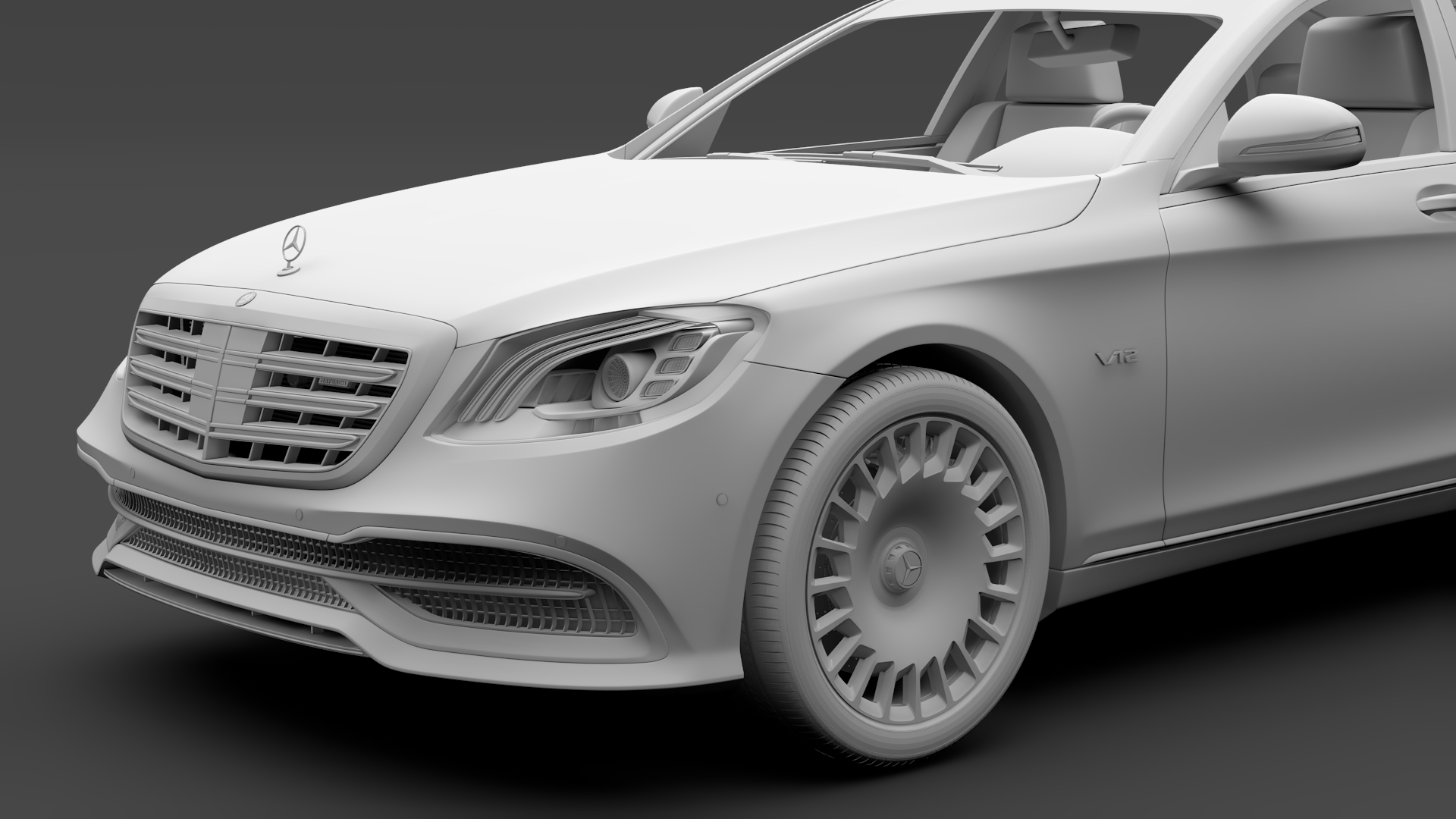 mercedes maybach s 650 x222 2018 3d model 3ds max fbx c4d lwo ma mb hrc xsi obj 284543