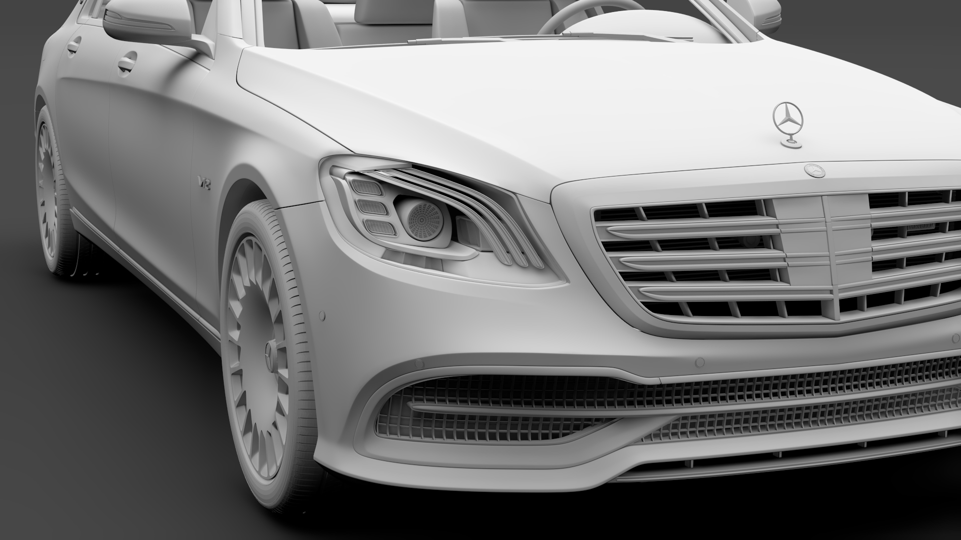 mercedes maybach s 650 x222 2018 3d model 3ds max fbx c4d lwo ma mb hrc xsi obj 284544