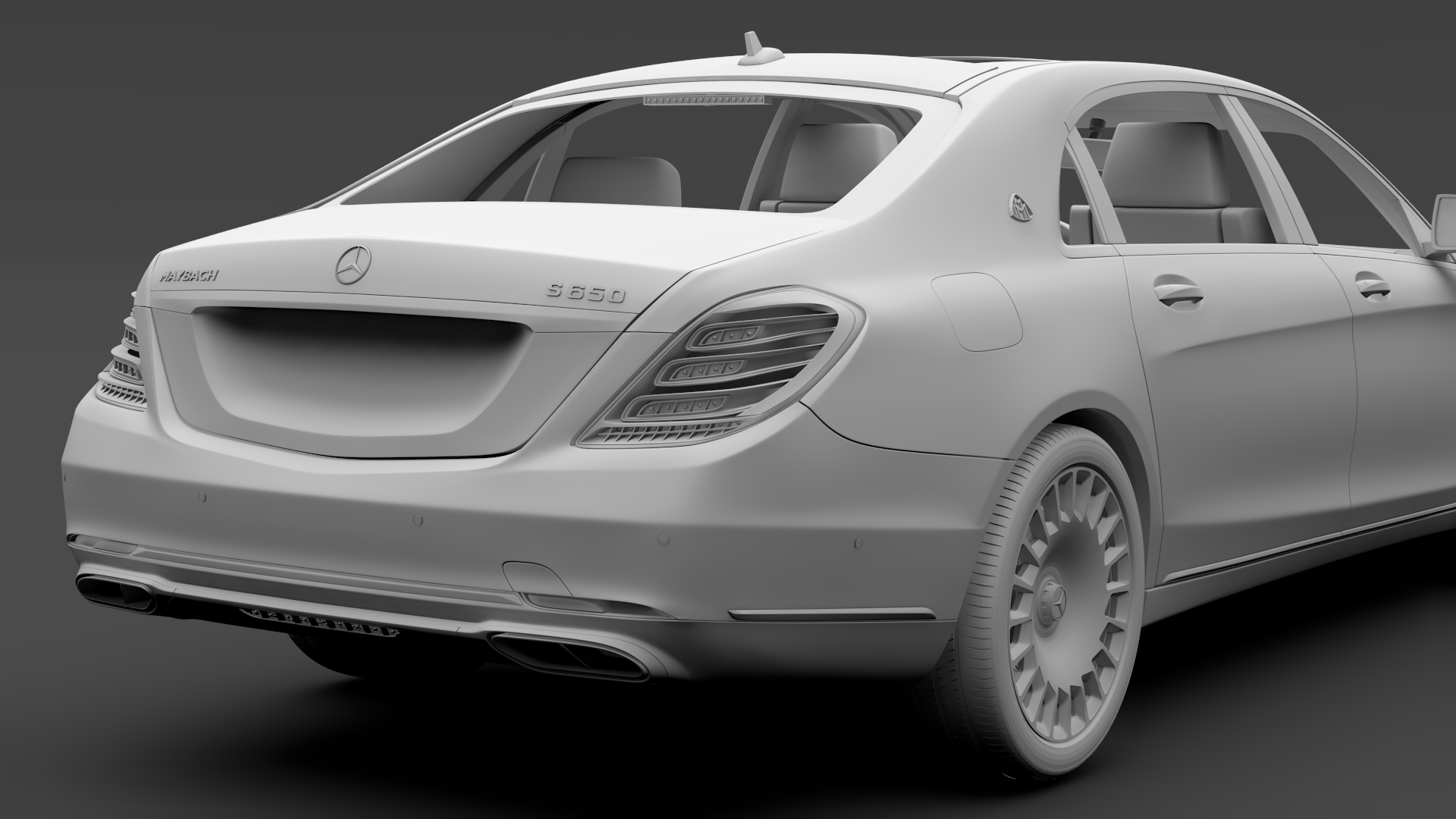 mercedes maybach s 650 x222 2018 3d model 3ds max fbx c4d lwo ma mb hrc xsi obj 284547