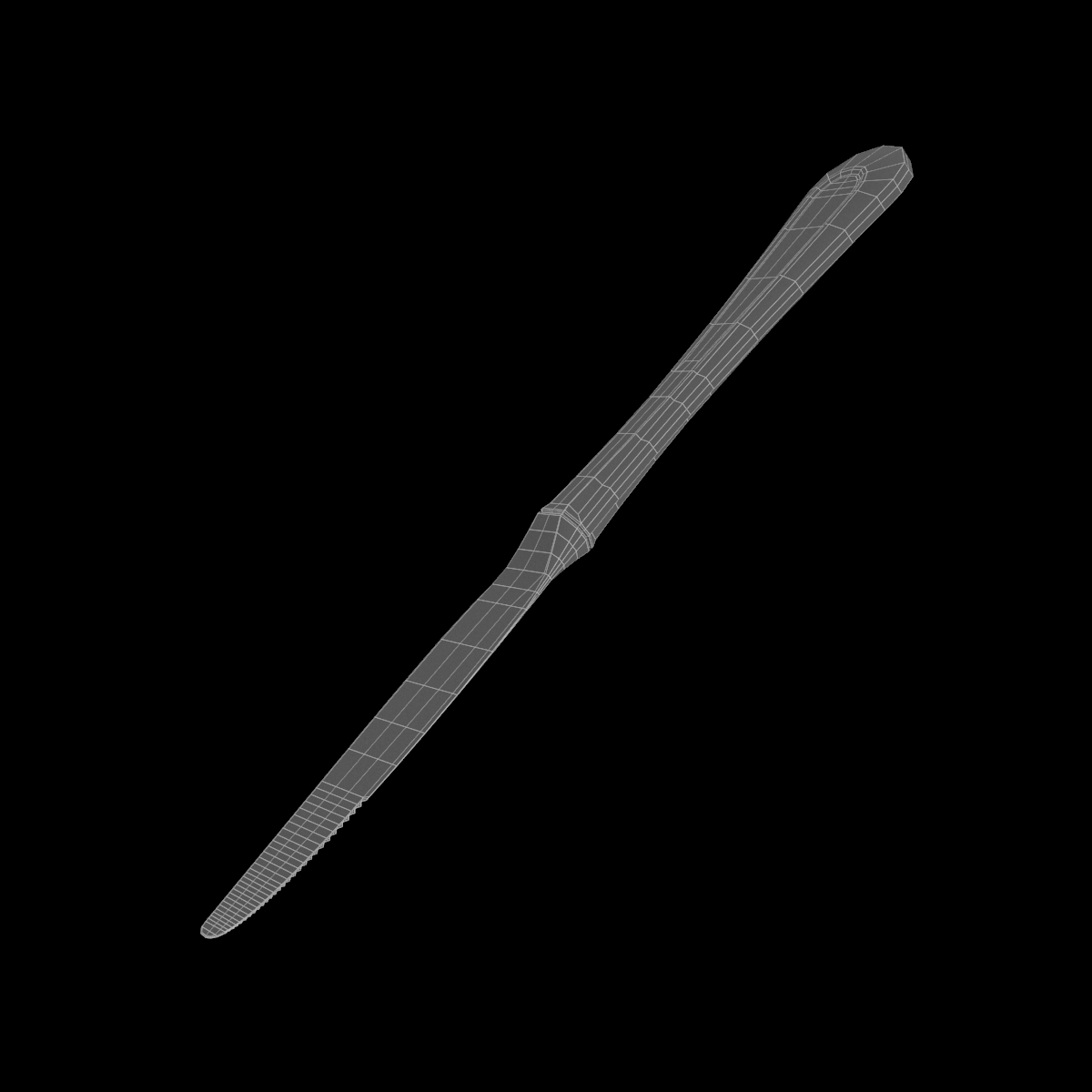 desertni nož klasični pribor 3d model 3ds c4d stl txt png fbx max max ma mb obj 285240