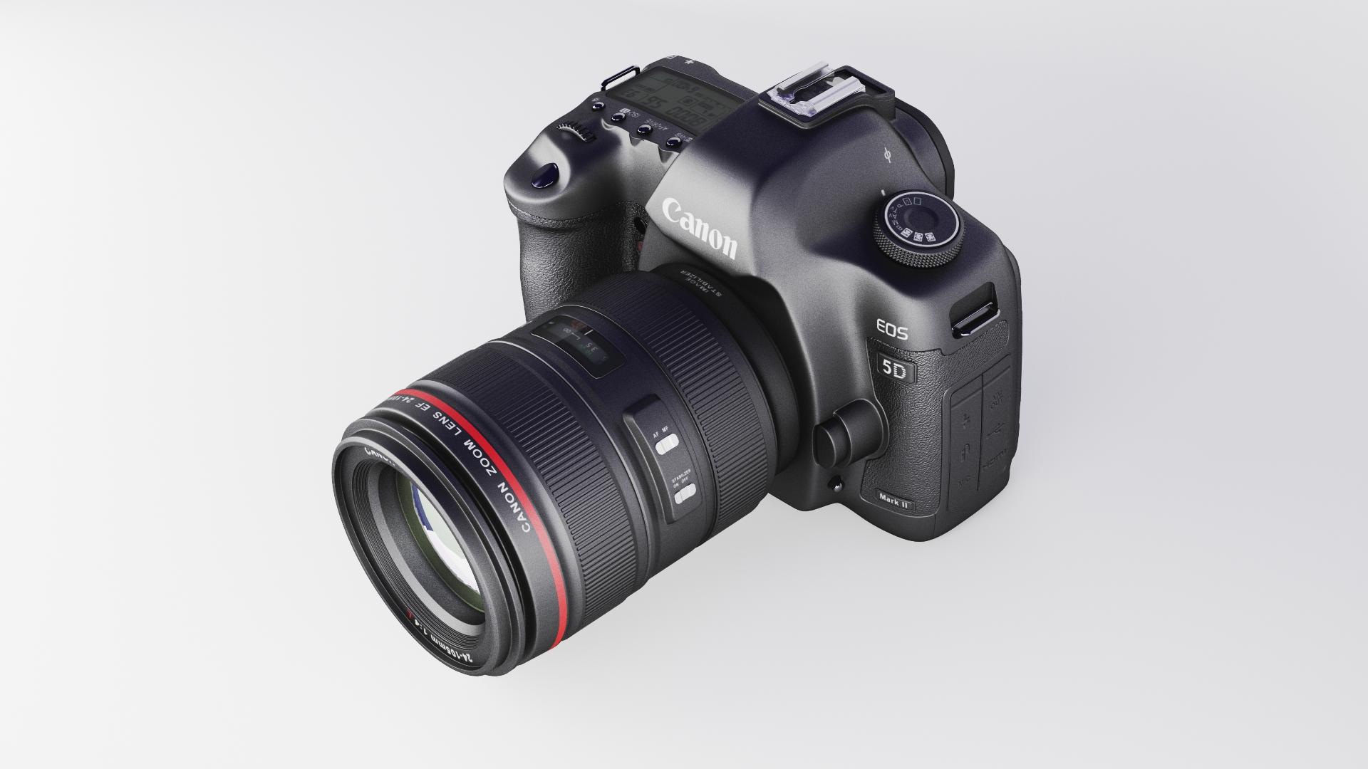 canon eos 5d zīme ii 3d modelis max fbx jpeg jpg cita faktūra obj 285250