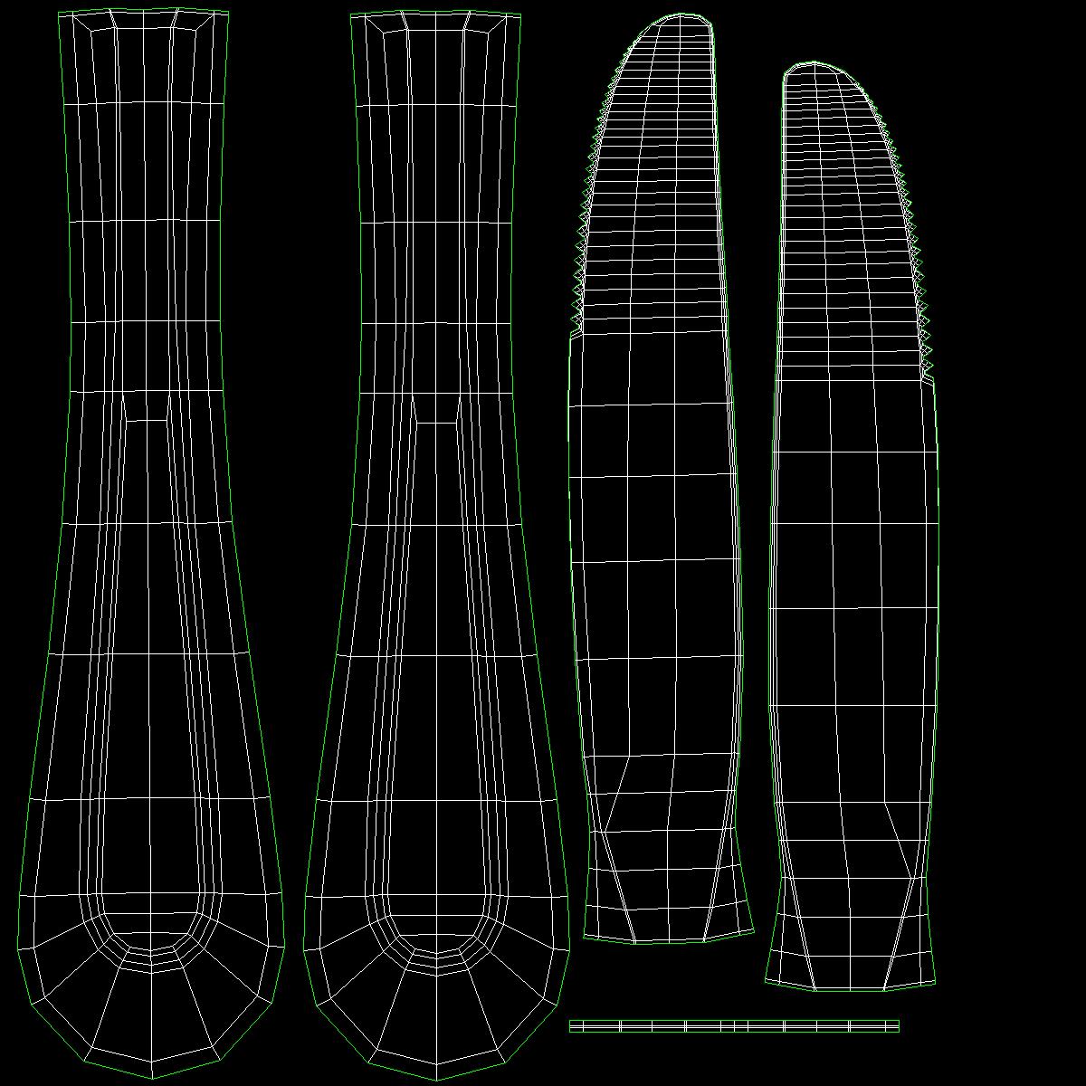 desertni nož klasični pribor 3d model 3ds c4d stl txt png fbx max max ma mb obj 285256