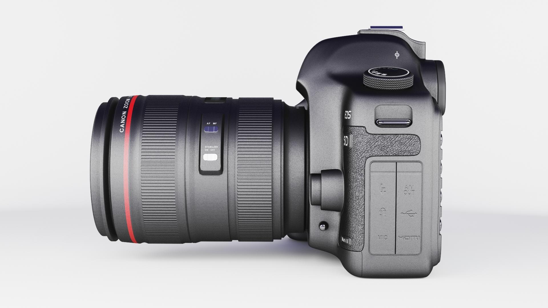 canon eos 5d zīme ii 3d modelis max fbx jpeg jpg cita faktūra obj 285257