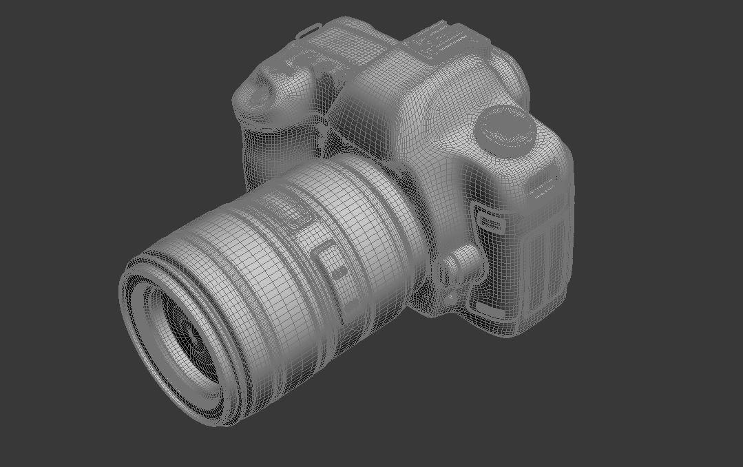 canon eos 5d zīme ii 3d modelis max fbx jpeg jpg cita faktūra obj 285267