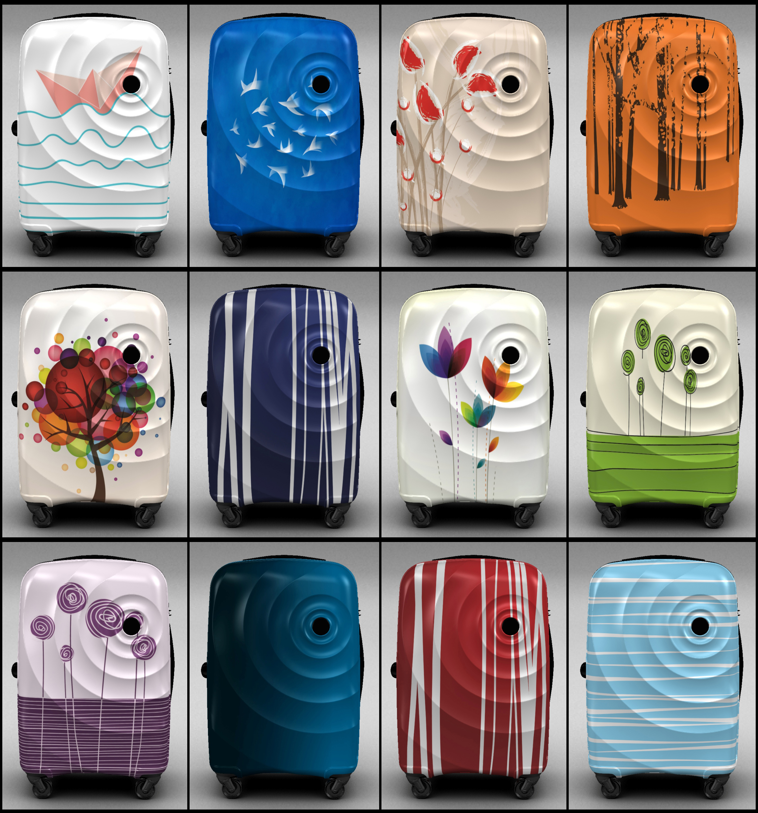 Trolley Suitcase Bag 3d model max 3ds max plugin fbx ma mb  obj 285284