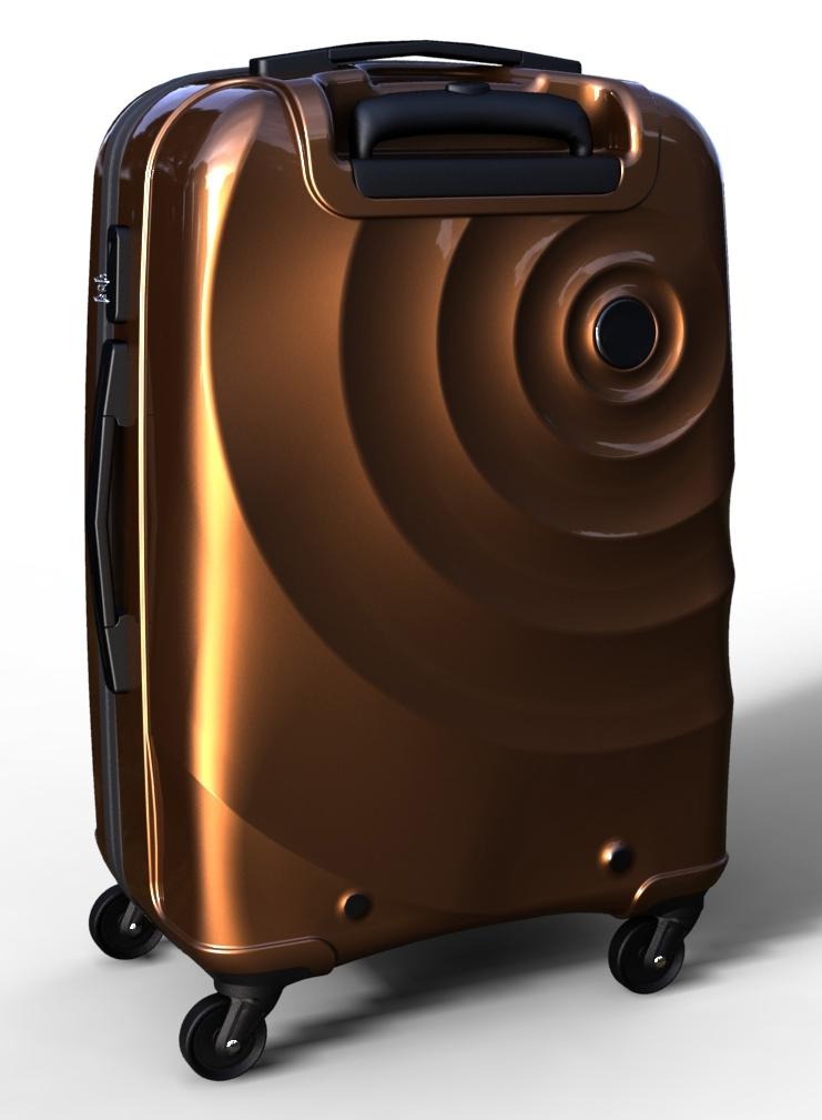 trolley suitcase bag 3d model max  fbx ma mb texture obj 285290