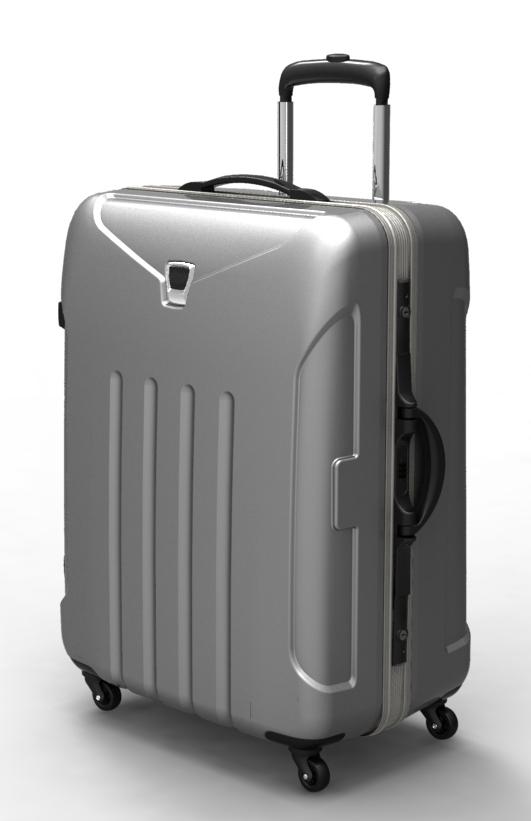 trolley suitcase frame 3d model max fbx ma mb obj 285306