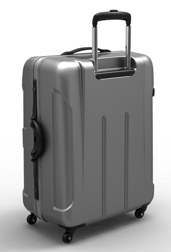 trolley suitcase frame 3d model max fbx ma mb obj 285307