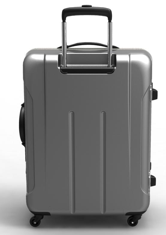trolley suitcase frame 3d model max fbx ma mb obj 285308