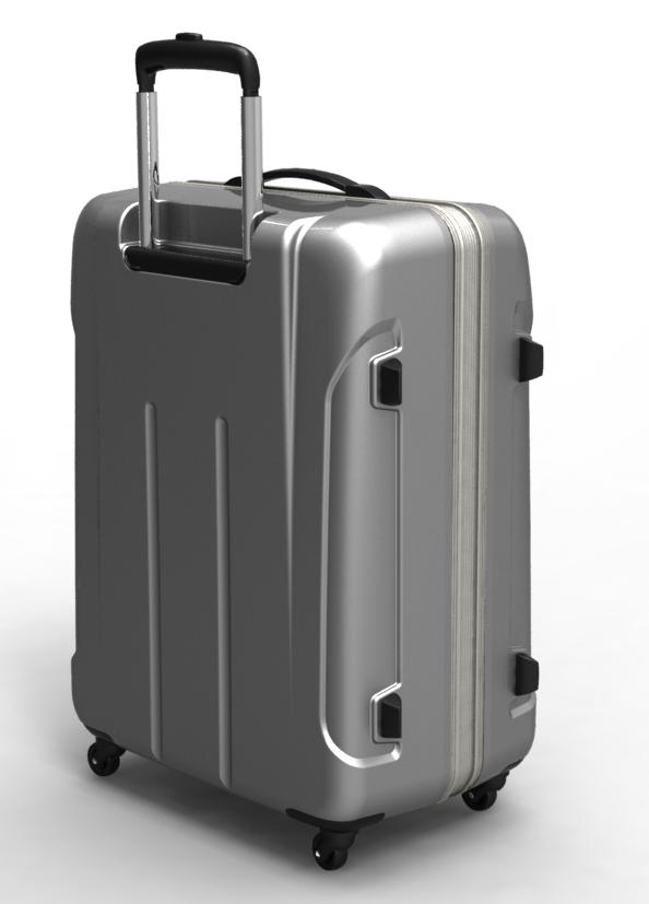 trolley suitcase frame 3d model max fbx ma mb obj 285309