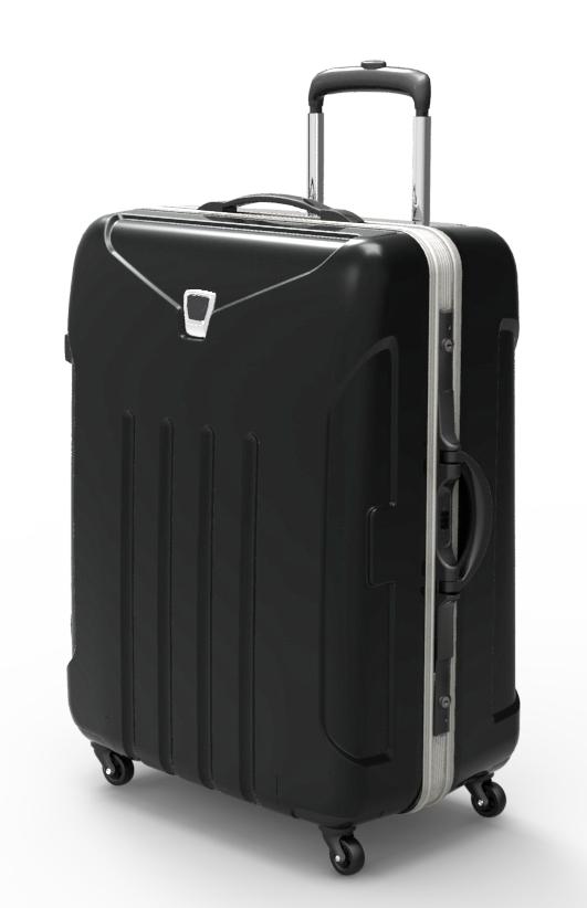 trolley suitcase frame 3d model max fbx ma mb obj 285311