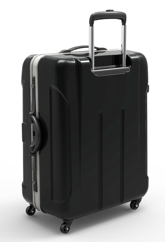 trolley suitcase frame 3d model max fbx ma mb obj 285312