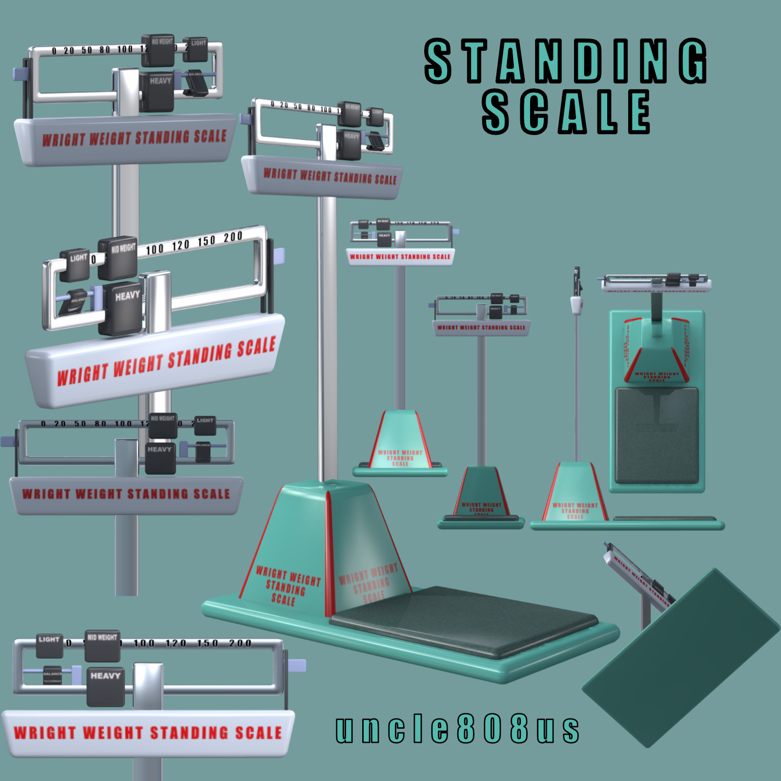 standing scales 3d object 3d model other obj 285915
