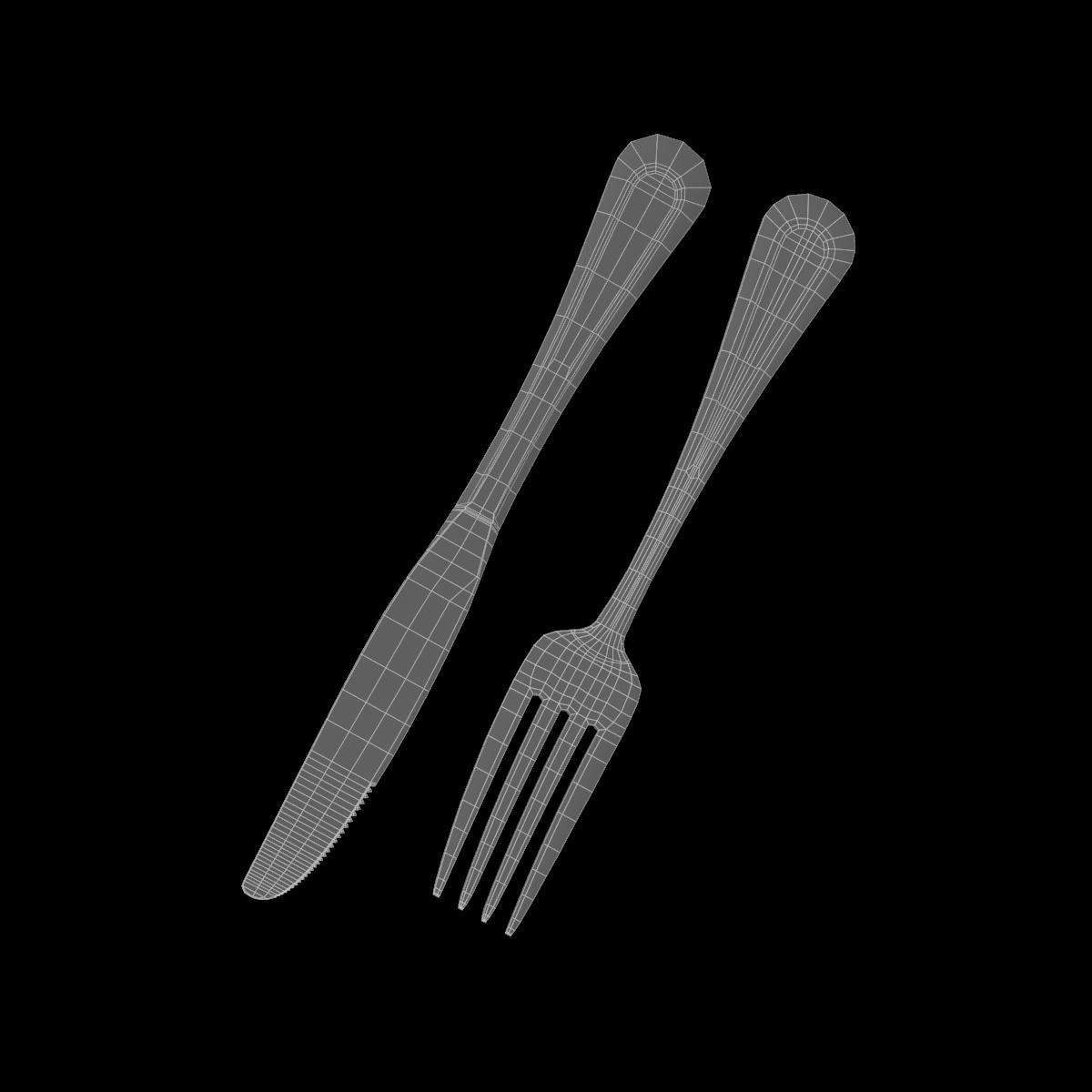 dessert knife and fork classic cutlery 3d model 3ds c4d fbx max max ma mb obj txt png stl 285932