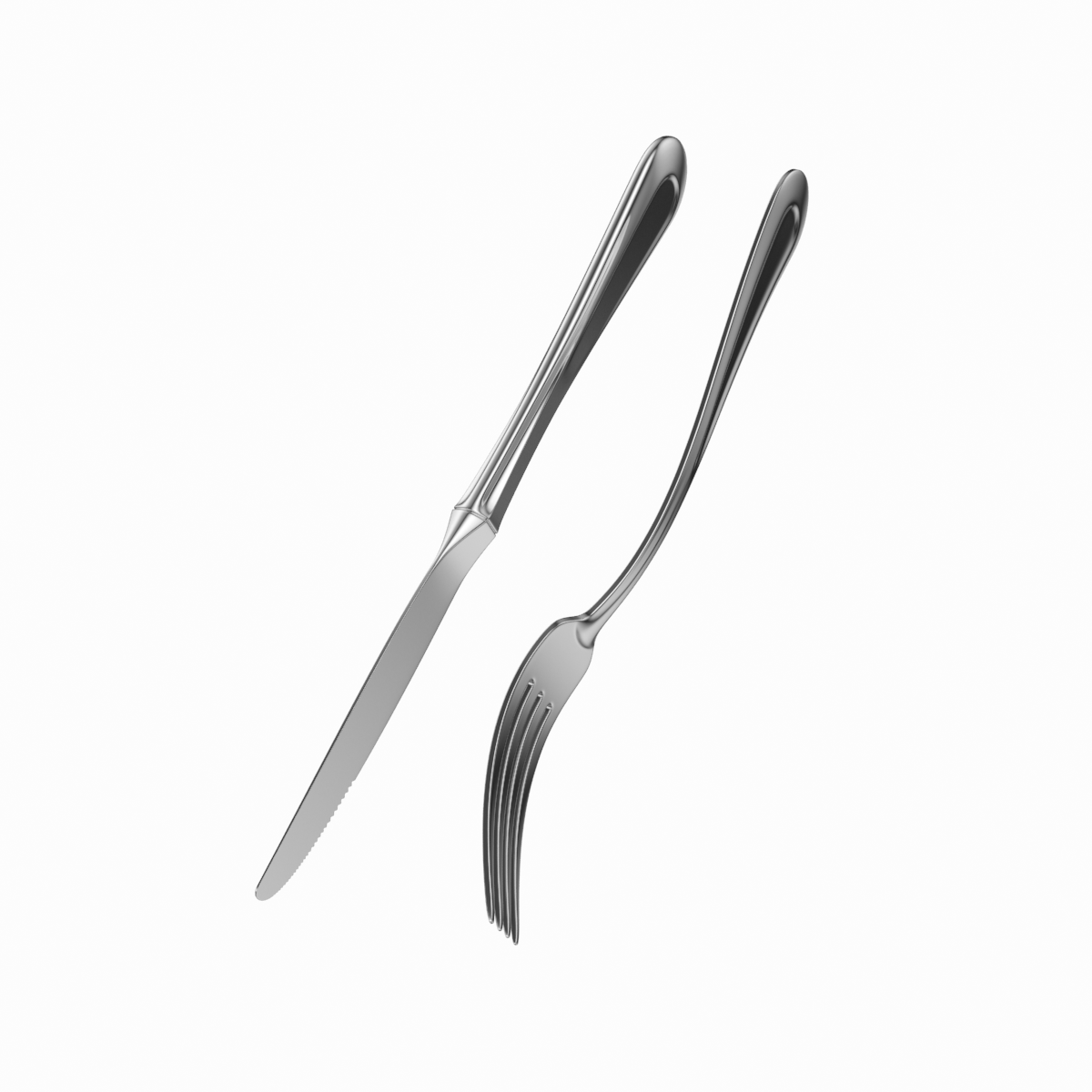Dessert Knife And Fork Classic Cutlery 3d Model