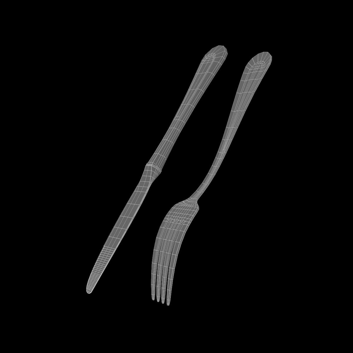 dessert knife and fork classic cutlery 3d model 3ds c4d fbx max max ma mb obj txt png stl 285936