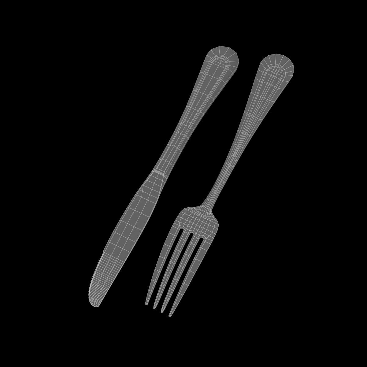 dessert knife and fork classic cutlery 3d model 3ds c4d fbx max max ma mb obj txt png stl 285938