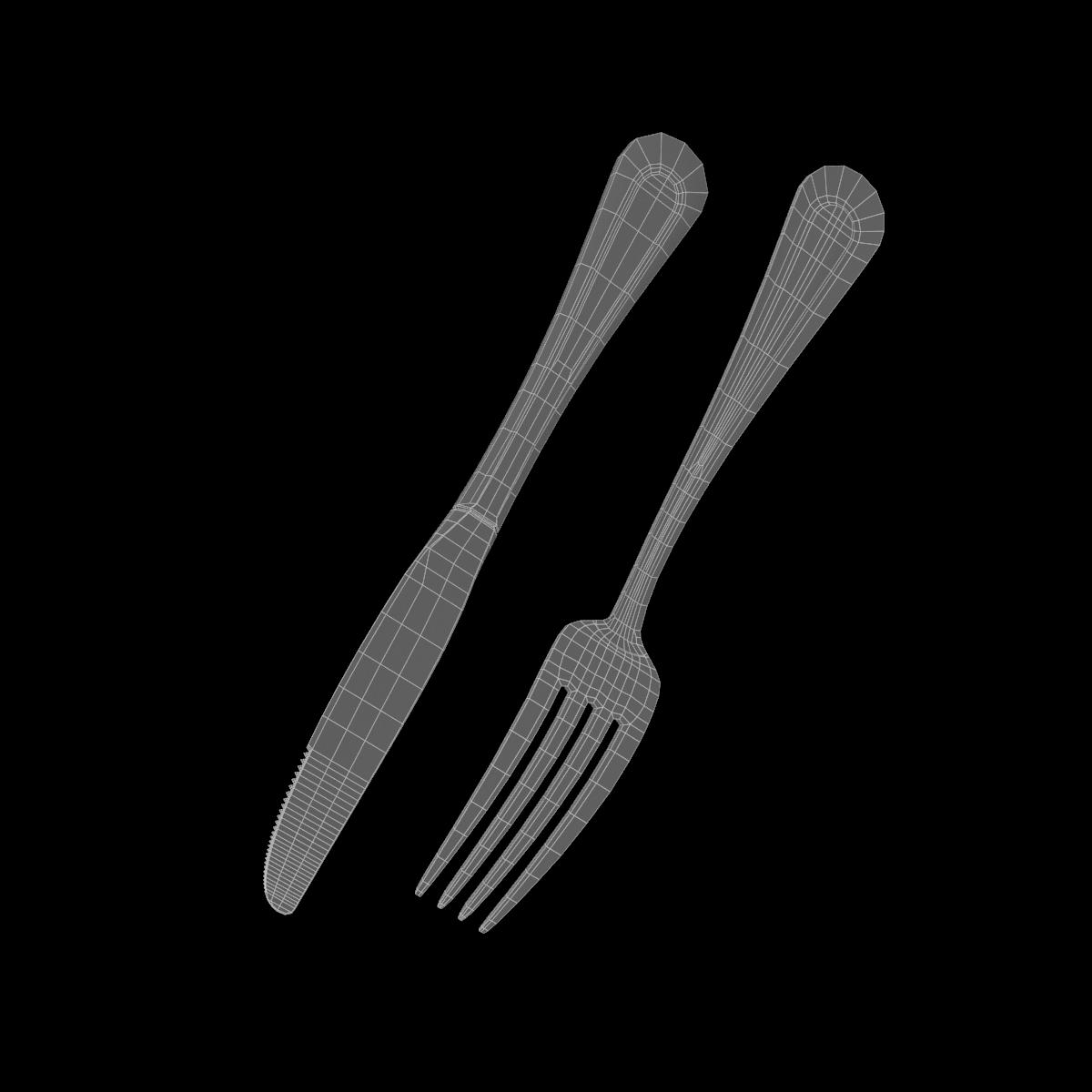 dessert knife and fork classic cutlery 3d model 3ds c4d fbx max max ma mb obj txt png stl 285940