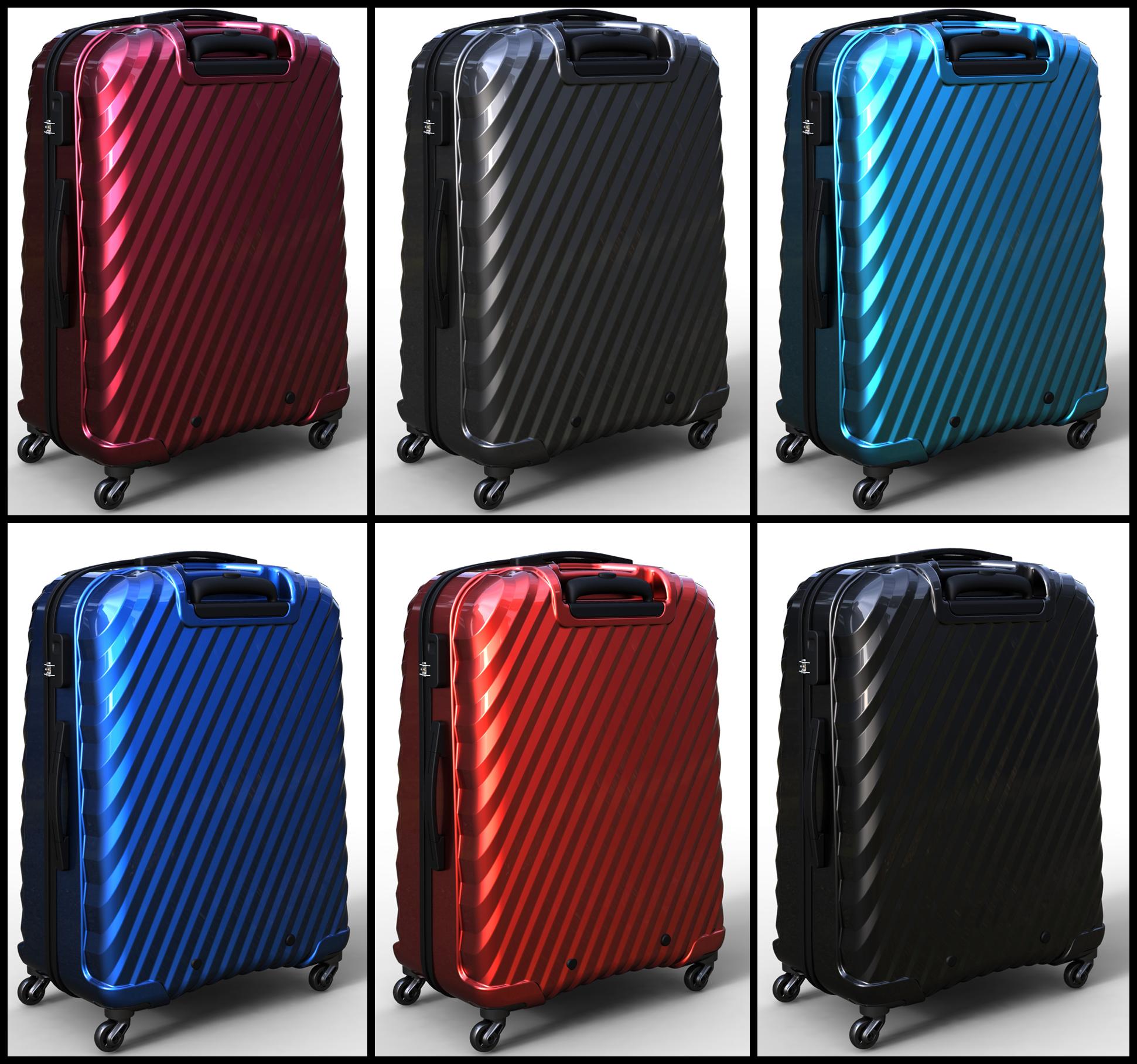 trolley suitcase bag 03 3d model max fbx ma mb obj 285995