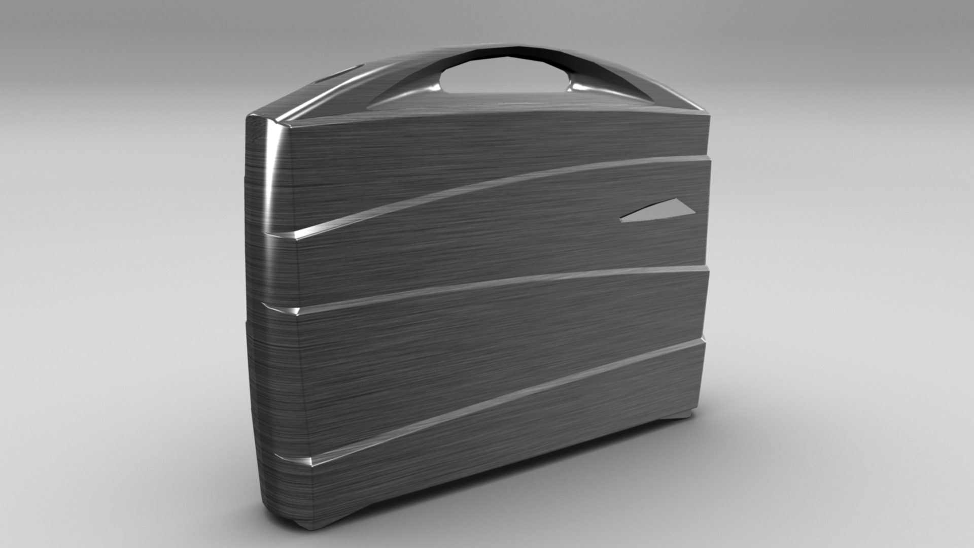 metal suitcase 3d model max fbx ma mb obj 286022