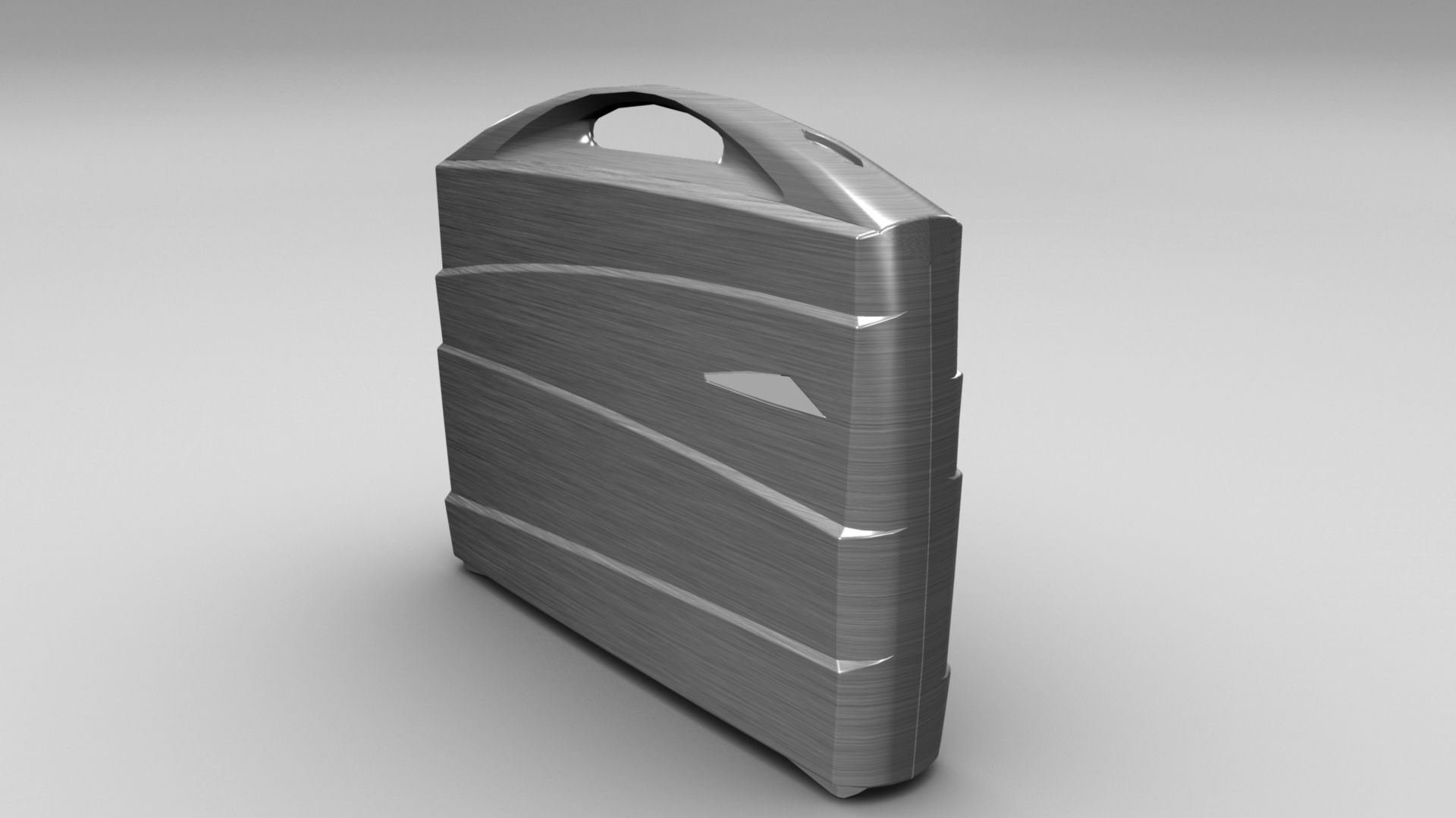 metal suitcase 3d model max fbx ma mb obj 286023