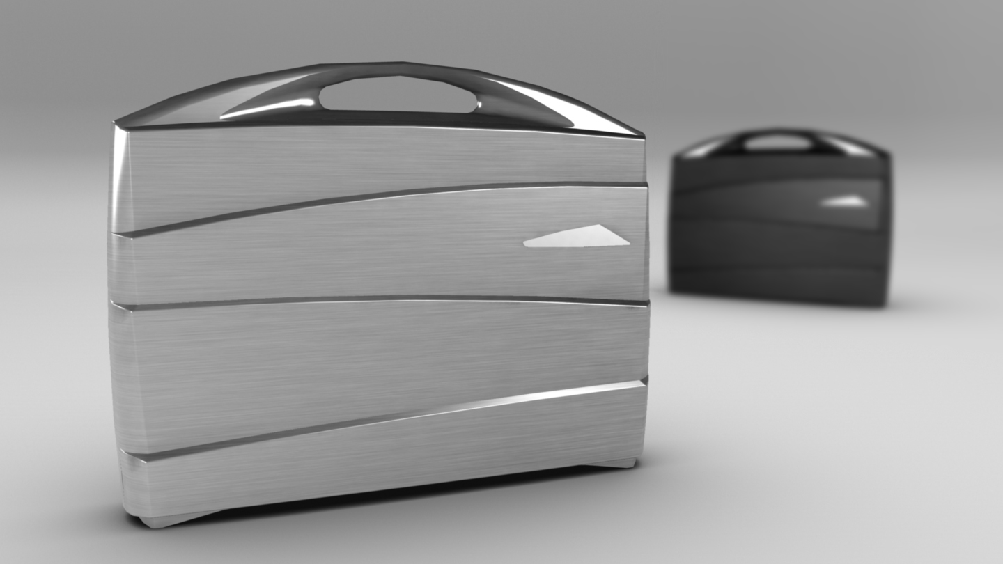 metal suitcase 3d model max fbx ma mb obj 286025