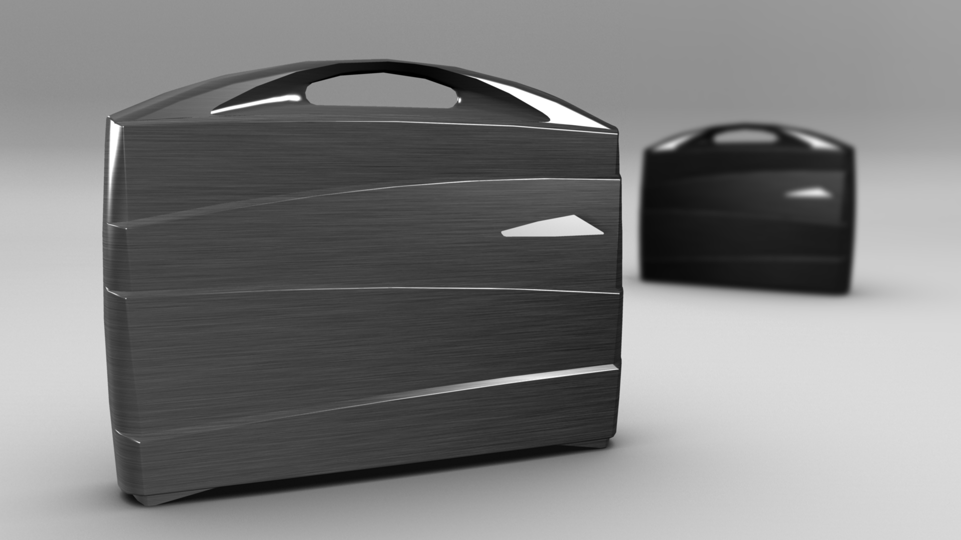 metal suitcase 3d model max fbx ma mb obj 286026