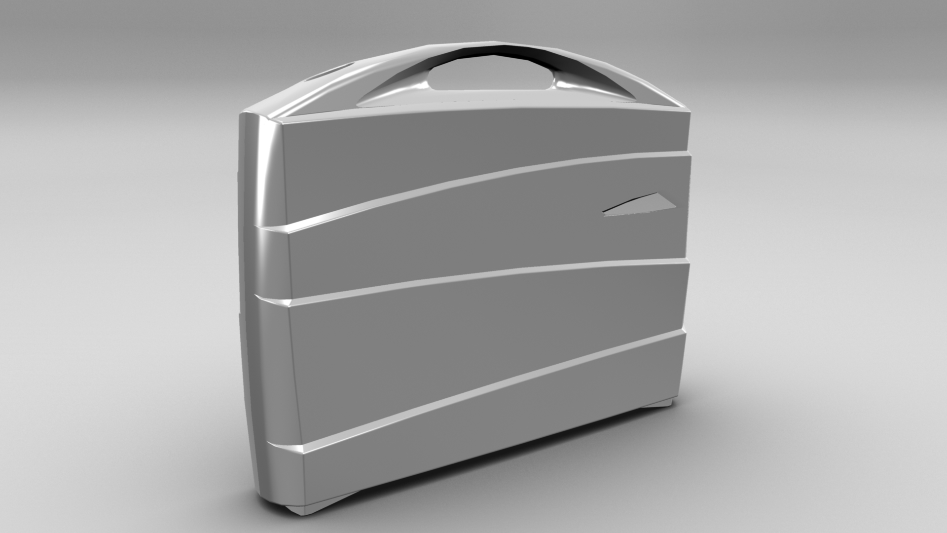 metal suitcase 3d model max fbx ma mb obj 286027