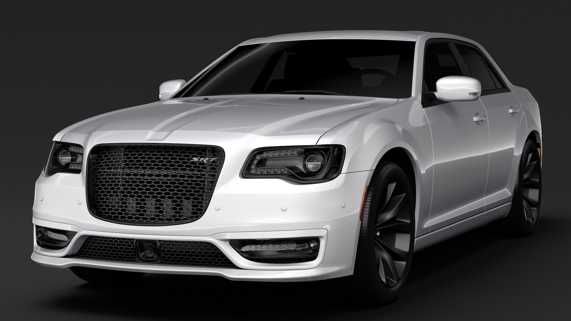 chrysler 300 srt lx2 2018 3d model 3ds max fbx c4d lwo ma mb hrc xsi obj 286091