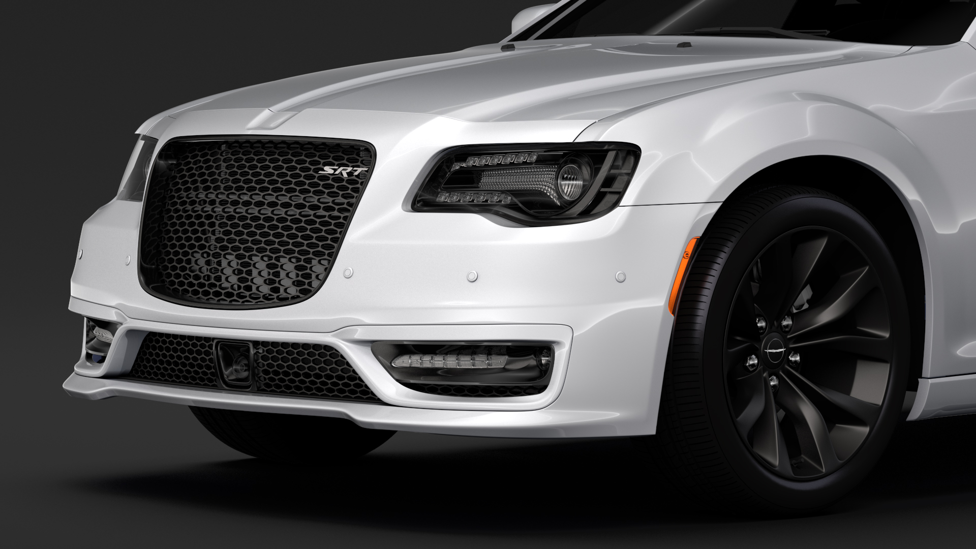 chrysler 300 srt lx2 2018 3d model 3ds max fbx c4d lwo ma mb hrc xsi obj 286095