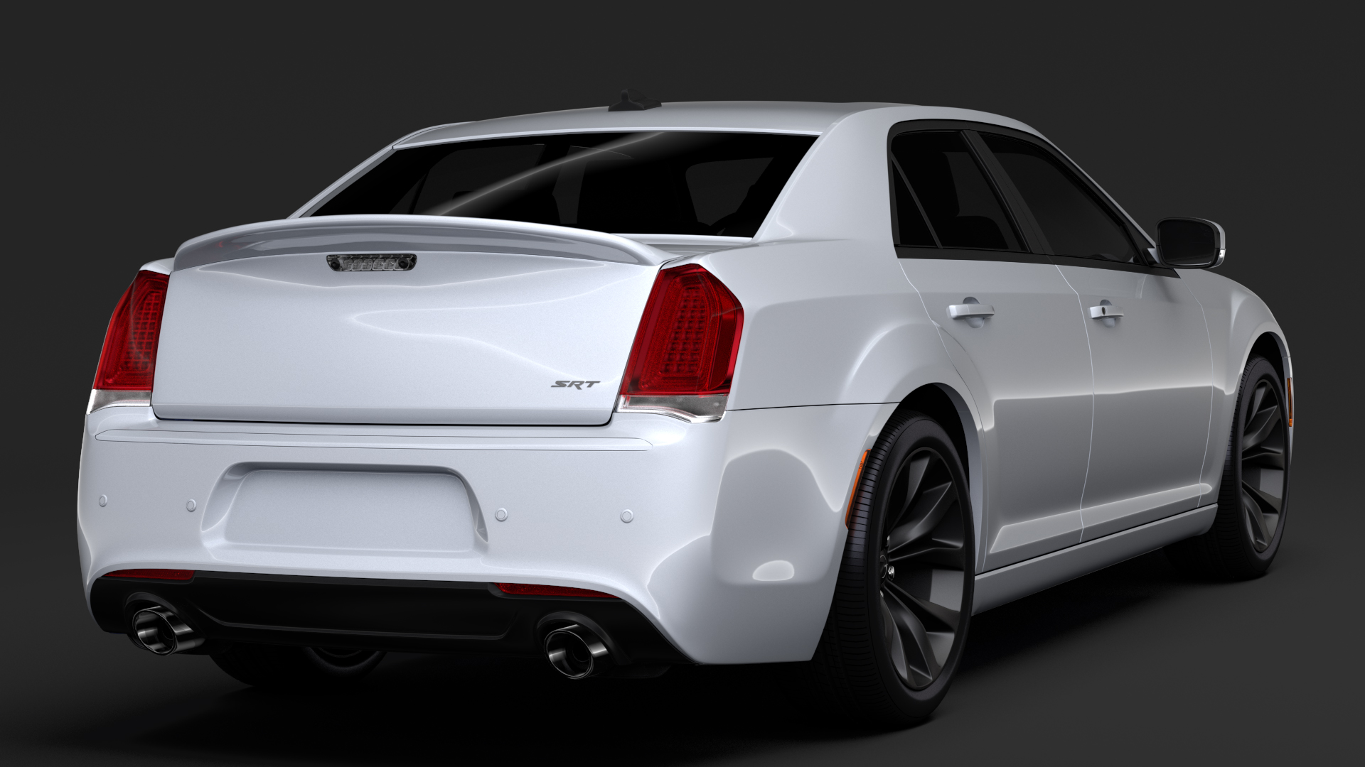chrysler 300 srt lx2 2018 3d model 3ds max fbx c4d lwo ma mb hrc xsi obj 286096