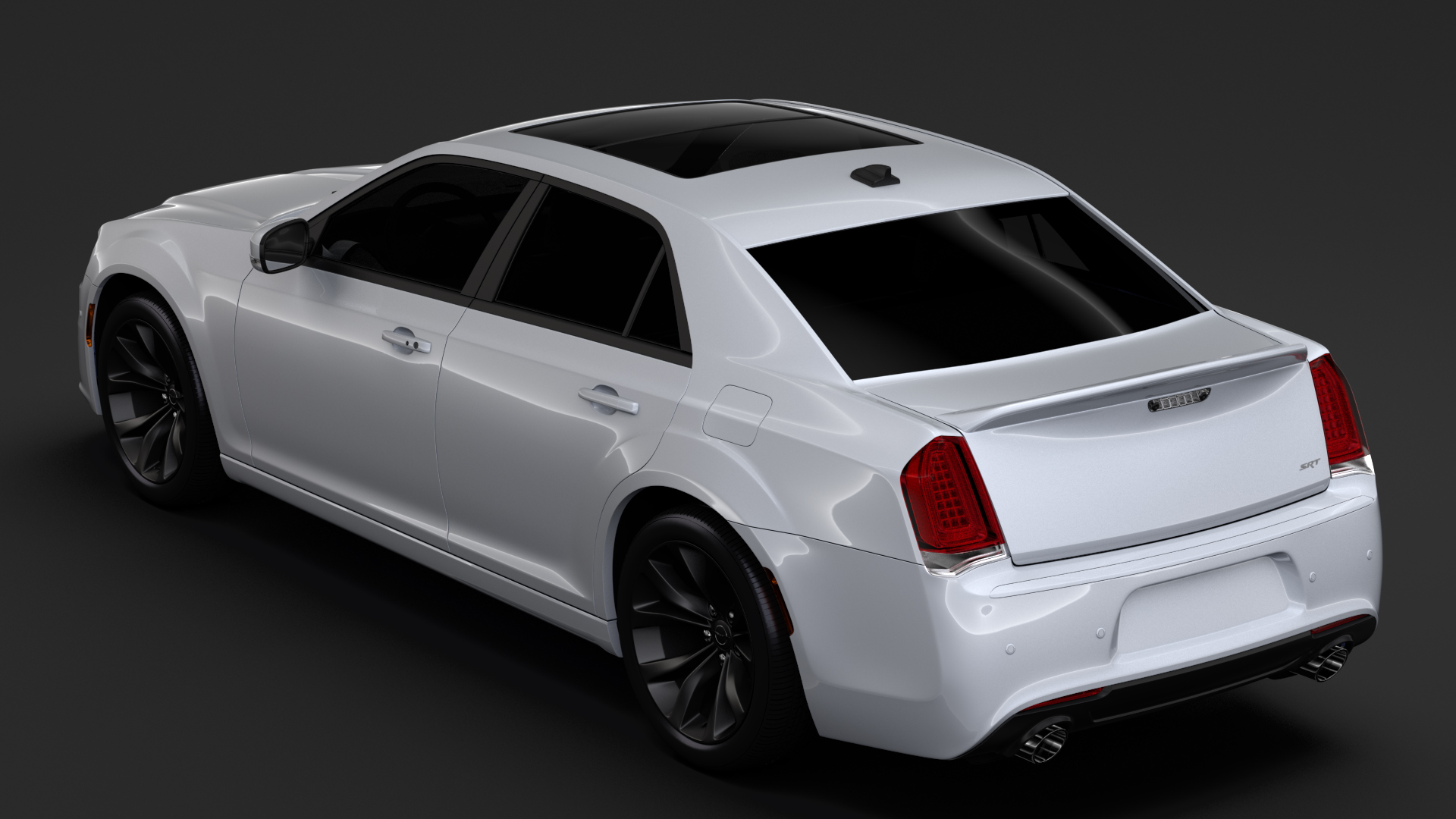 chrysler 300 srt lx2 2018 3d model 3ds max fbx c4d lwo ma mb hrc xsi obj 286097