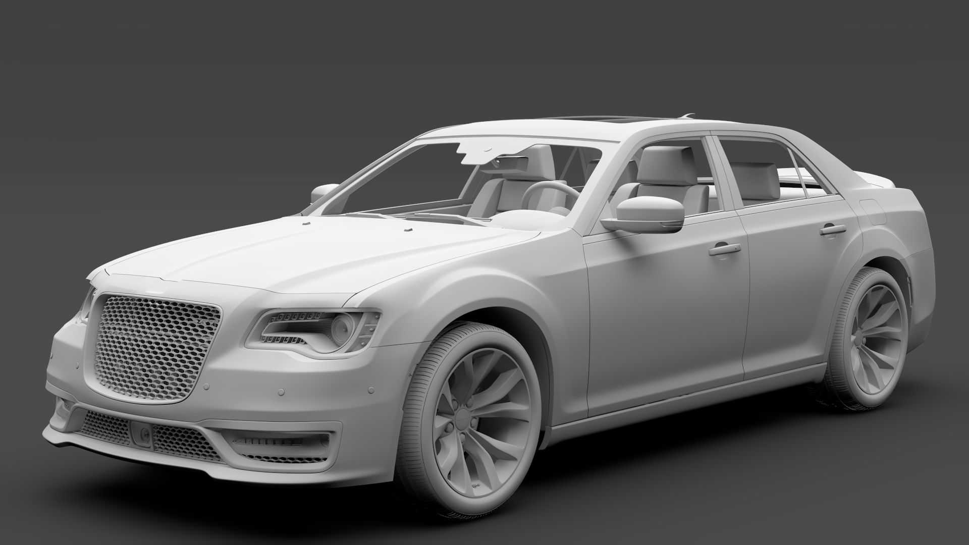 chrysler 300 srt lx2 2018 3d model 3ds max fbx c4d lwo ma mb hrc xsi obj 286107