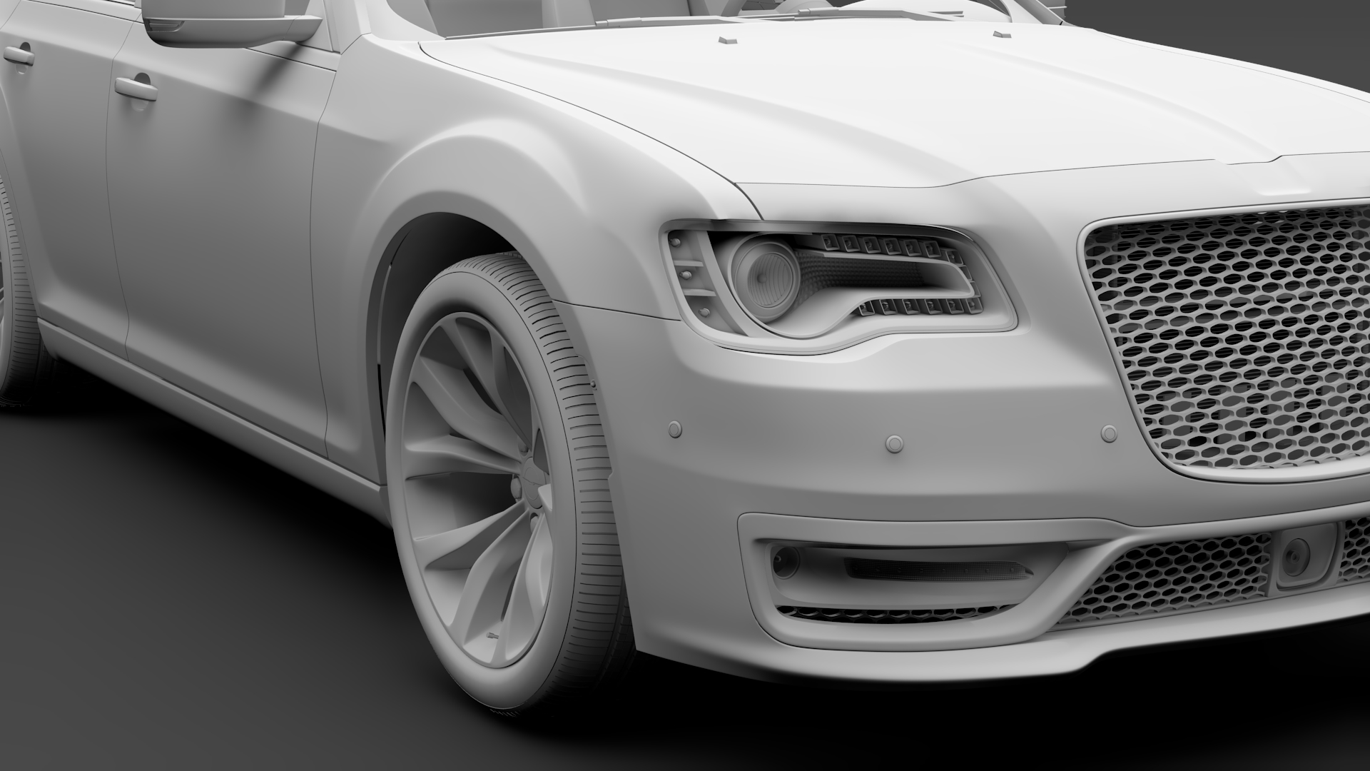chrysler 300 srt lx2 2018 3d model 3ds max fbx c4d lwo ma mb hrc xsi obj 286108
