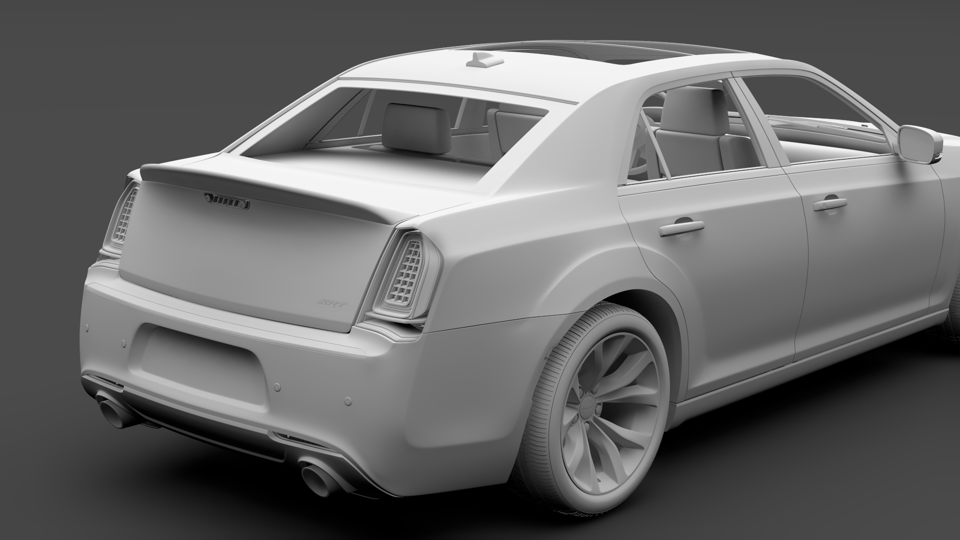 chrysler 300 srt lx2 2018 3d model 3ds max fbx c4d lwo ma mb hrc xsi obj 286112