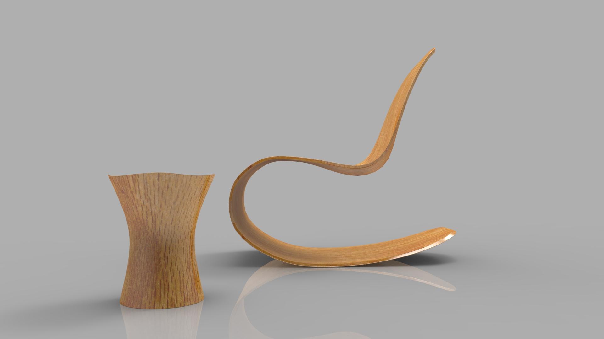 rocking wooden chair 3d model max fbx ma mb obj 286116