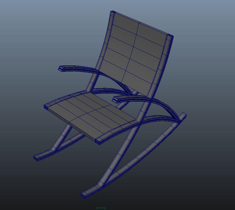 wishbone rocking chair 3d model max  fbx ma mb obj 286146