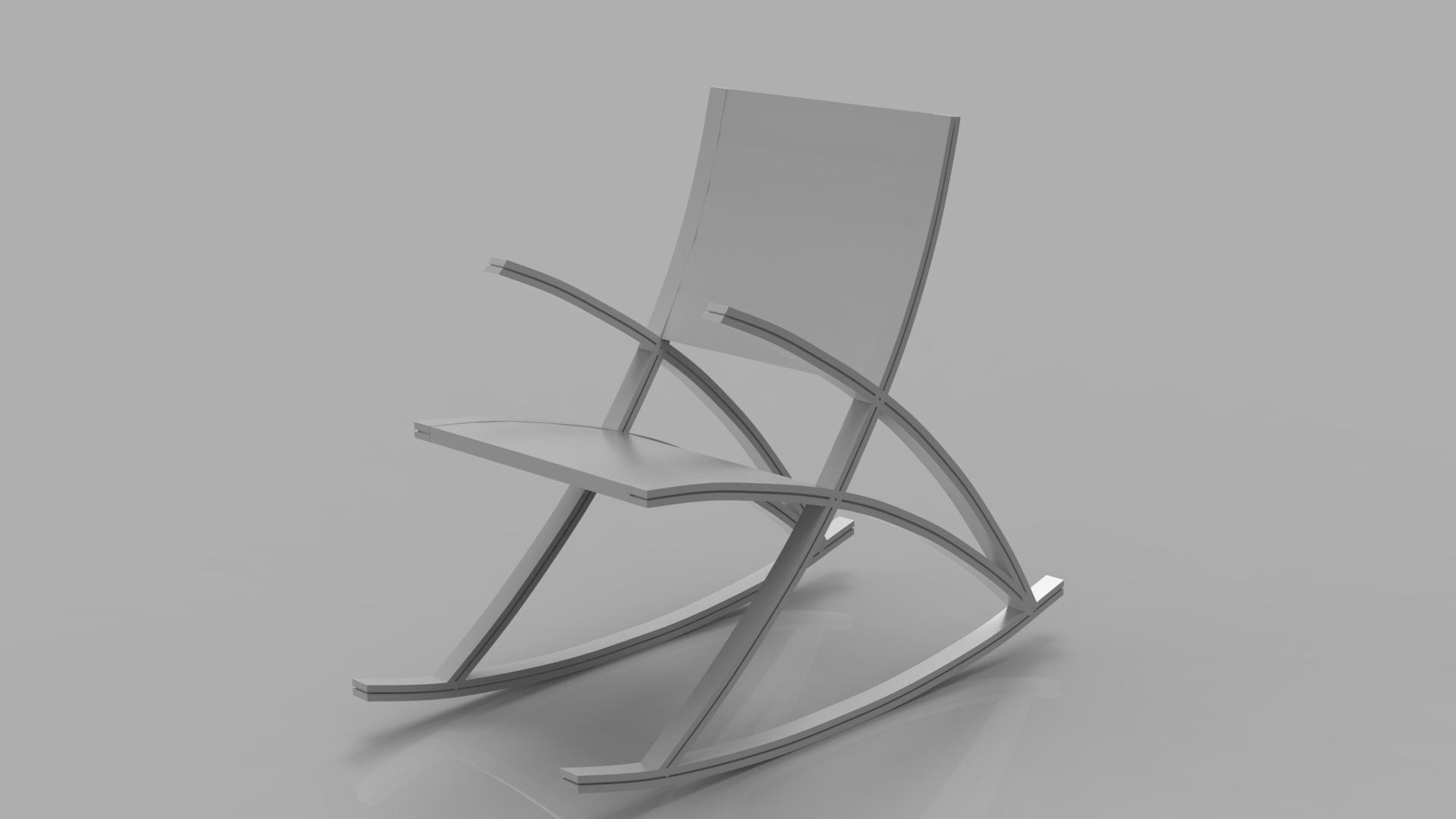 wishbone rocking chair 3d model max  fbx ma mb obj 286147