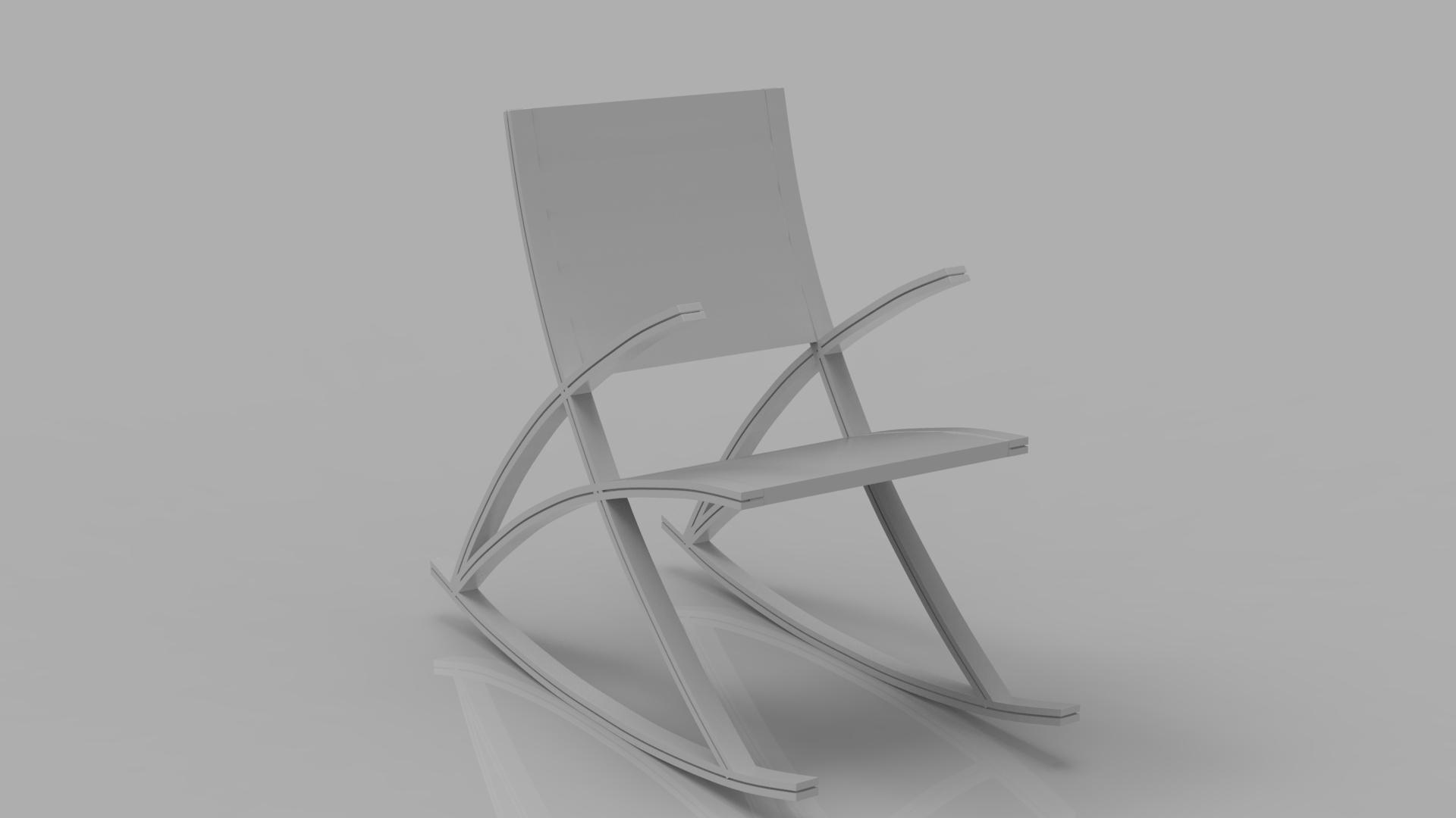 wishbone rocking chair 3d model max  fbx ma mb obj 286148
