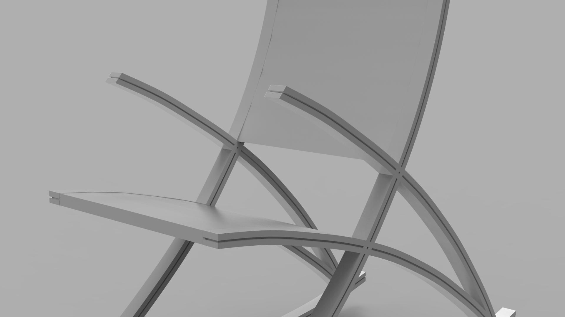 wishbone rocking chair 3d model max  fbx ma mb obj 286149