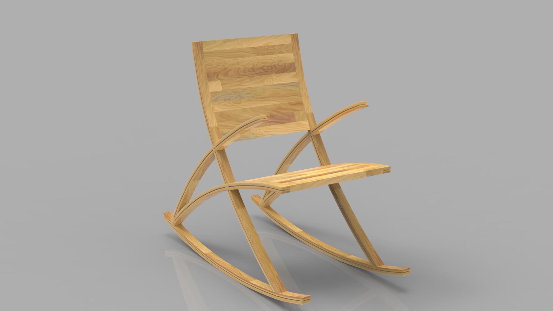 wishbone rocking chair 3d model max  fbx ma mb obj 286151