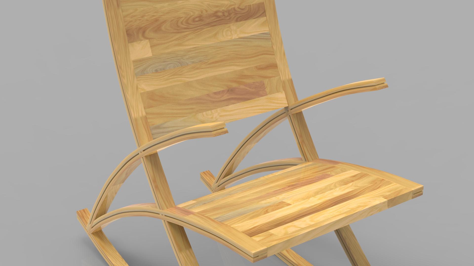 wishbone rocking chair 3d model max  fbx ma mb obj 286152
