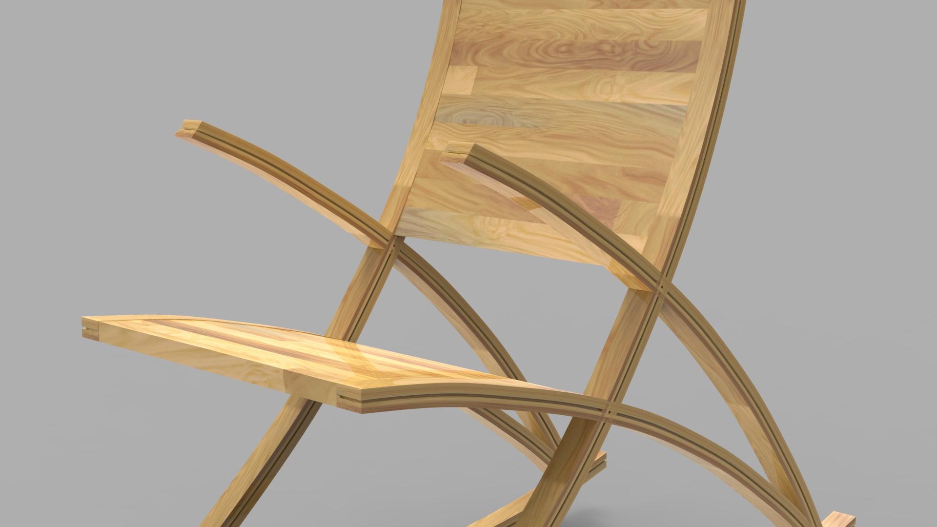wishbone rocking chair 3d model max  fbx ma mb obj 286153