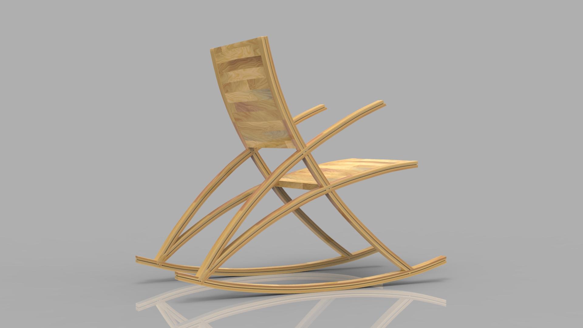 wishbone rocking chair 3d model max  fbx ma mb obj 286155