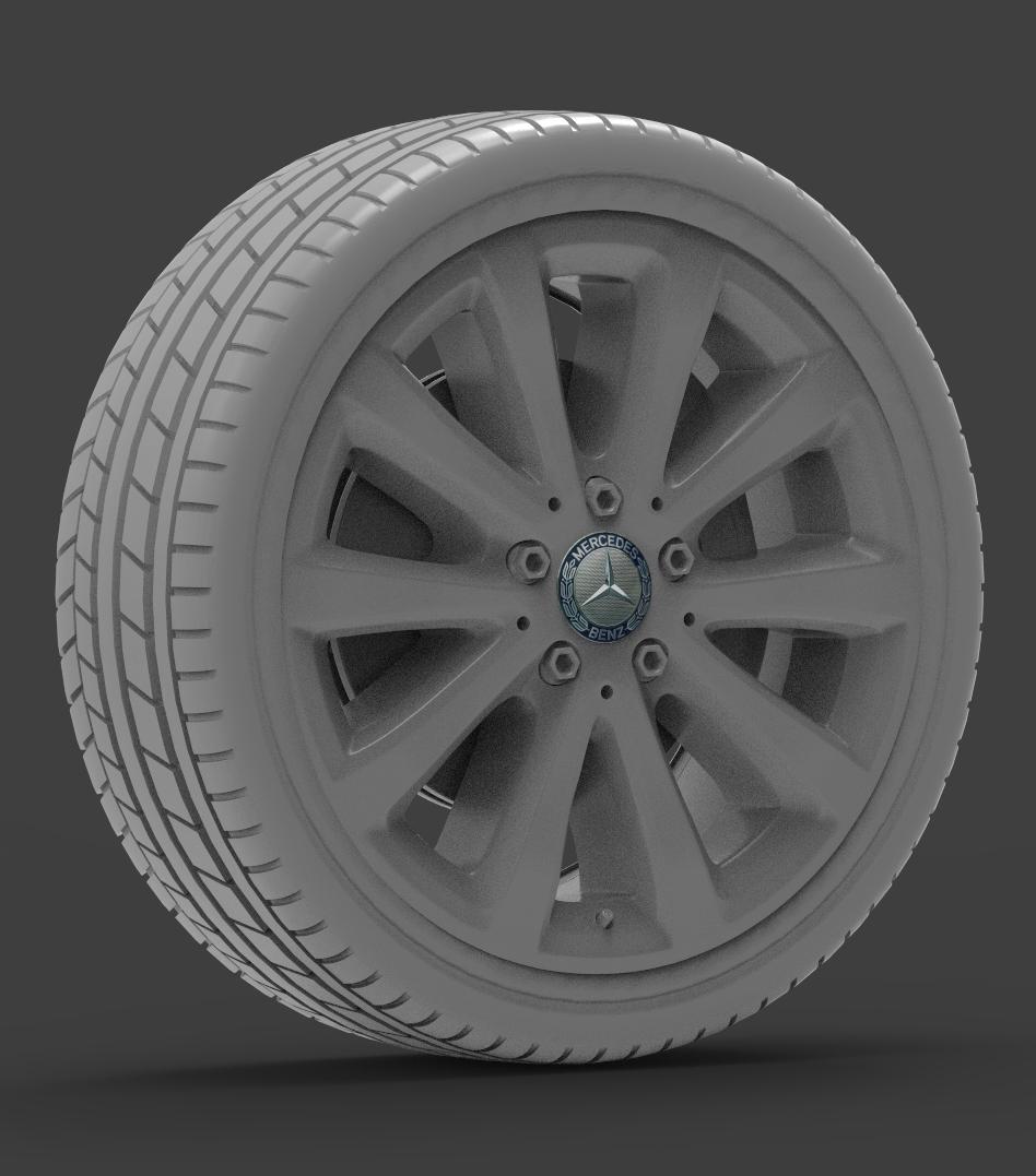 mercedes e 350 d alloy wheel 3d model max fbx ma mb obj 286185